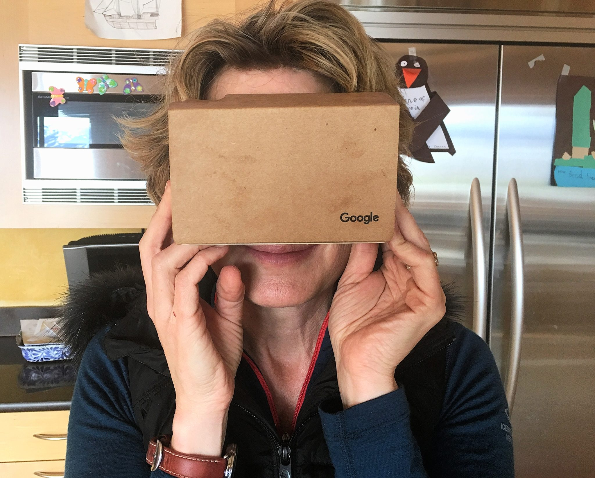 Google cardboard in action