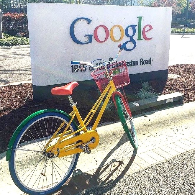 Google sign and google bike