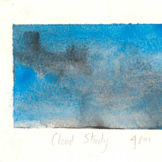 blue skies, white clouds, and storm clouds study showing storm texture