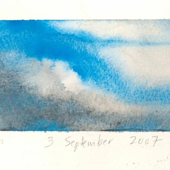 blue skies, white clouds, and storm clouds study detail showing cloud texture