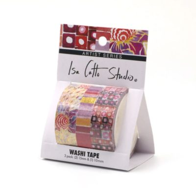 isa catto warm patterned washi tape