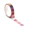 isa catto warm color block patterned washi tape