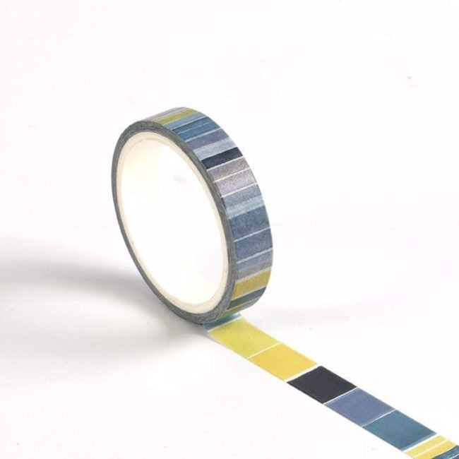 isa catto cool color block patterned washi tape