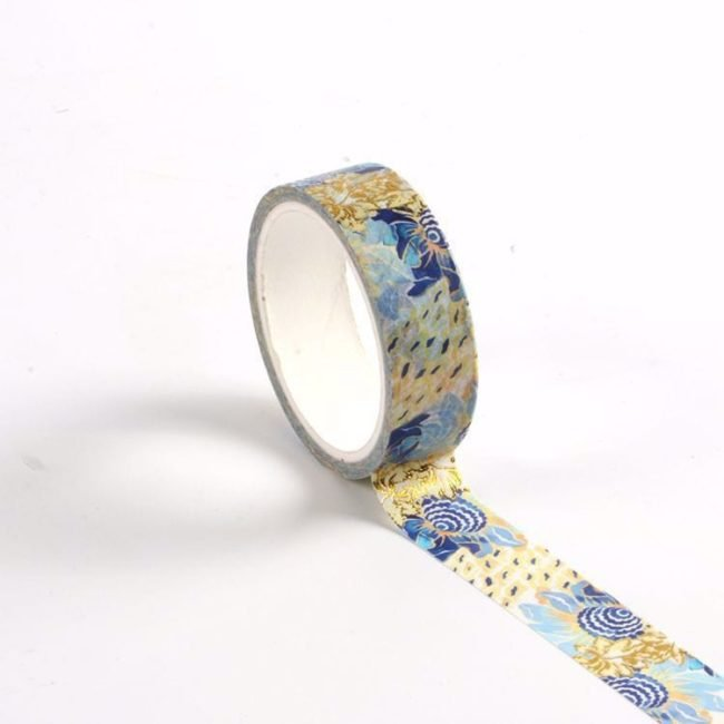 isa catto cool floral patterned washi tape