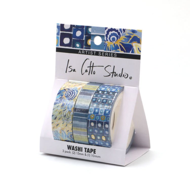 isa catto cool patterned washi tape in packaging