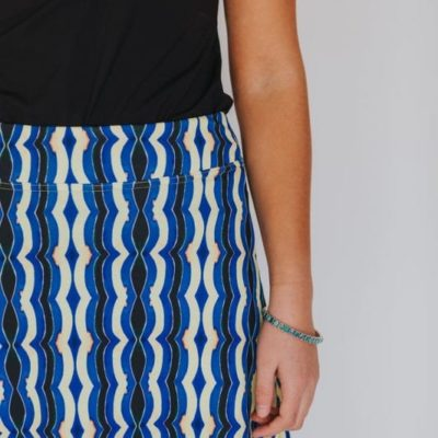 berber pattern skirt up close