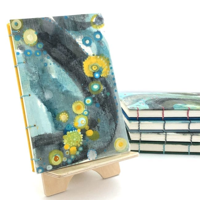 hand-painted journal with b