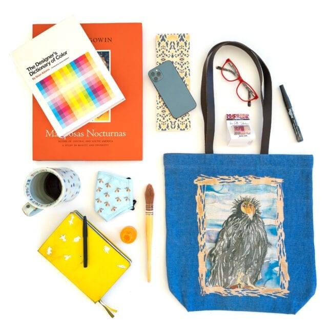 California Condor tote bags with notebooks, pens and face mask.