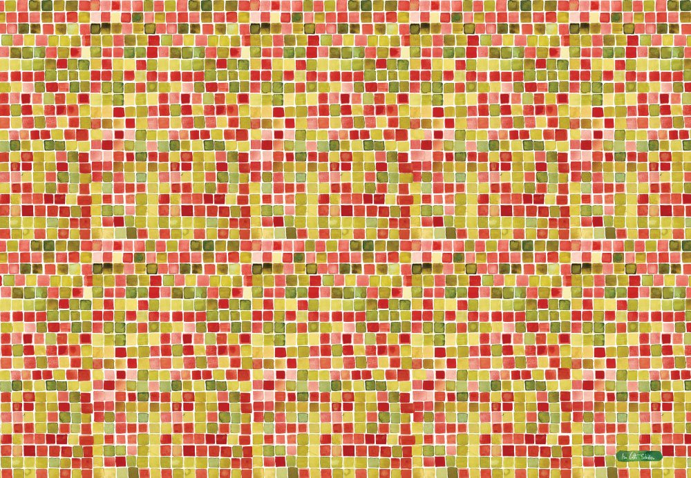 red and green square patterned wrapping paper
