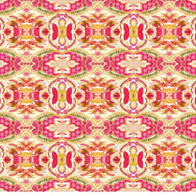 Geometric patterned wrapping paper sheet in pinks and greens