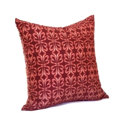 red clay botanical throw pillow