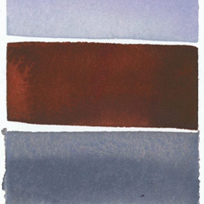 close-up of a grey and brown striped painting