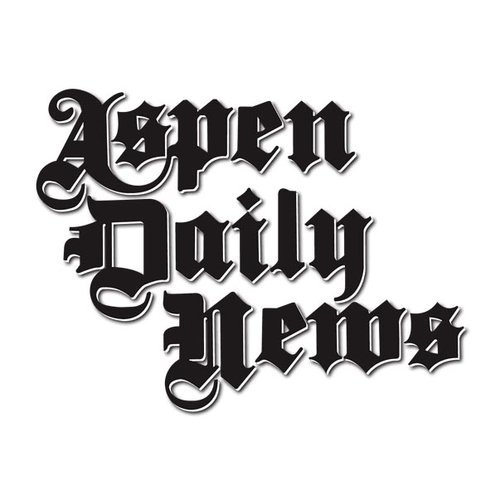 aspen daily news logo with a white background and black text