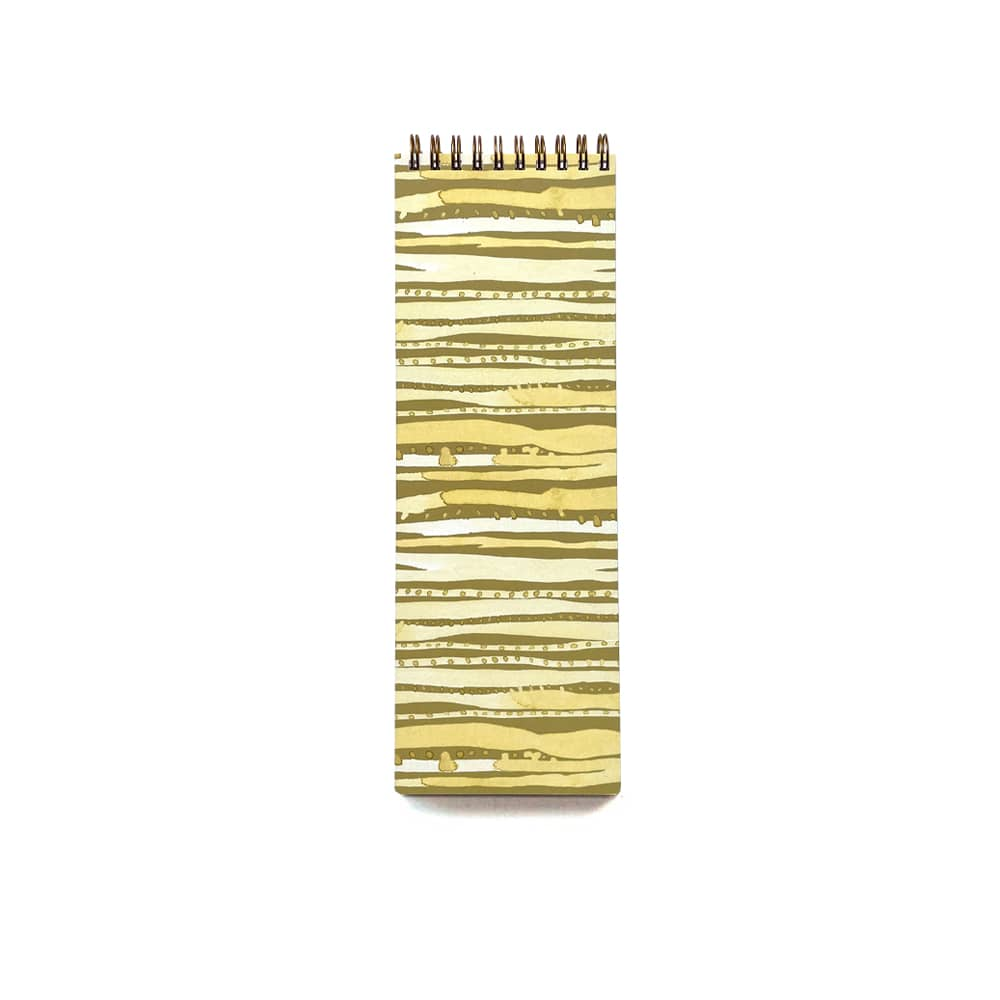 gold and olive green organizational notebooks with sage brush theme