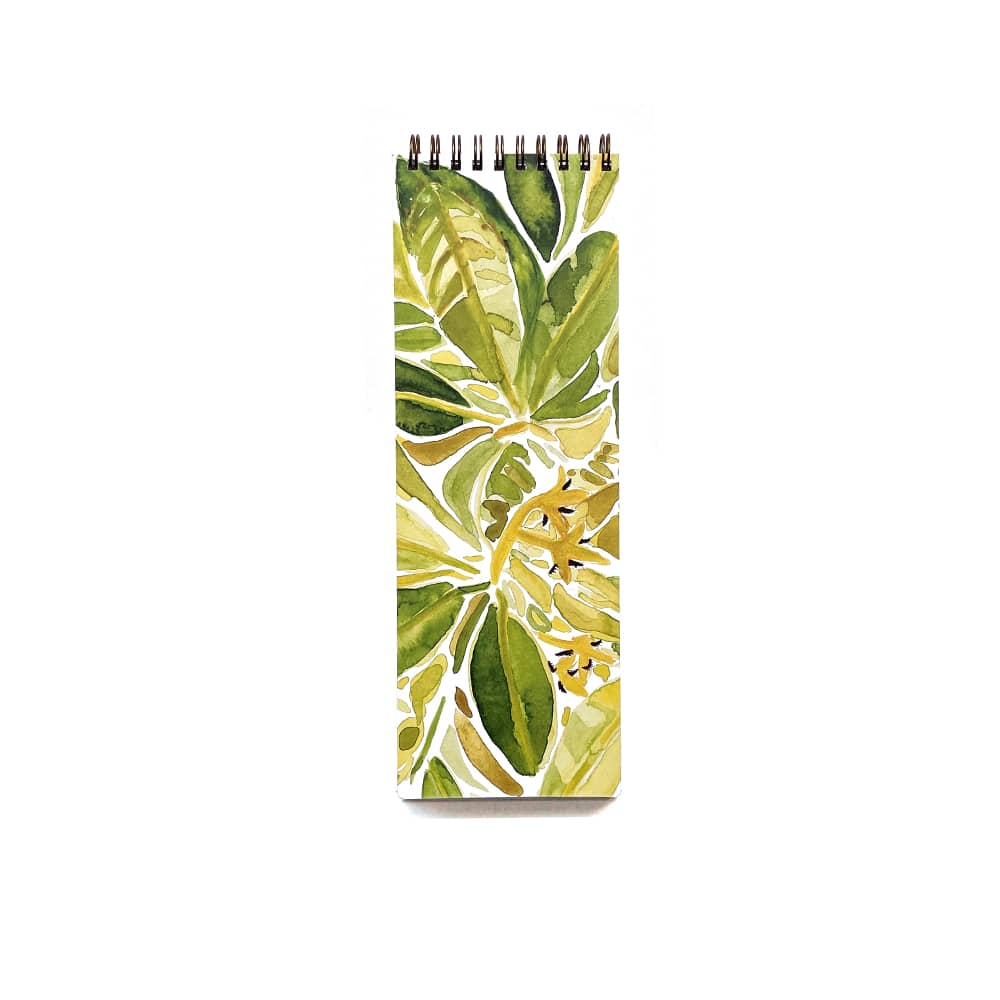 mangrove foliage organizational notebook with green and gold foliage