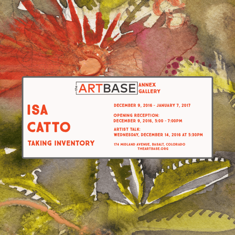 isa catto 2017 art gallery event: Taking Inventory